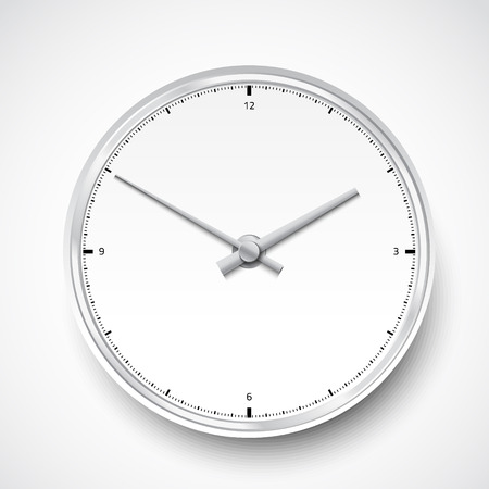 hands  hour: Illustration of Realistic clock watch icon