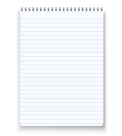 Illustration of Realistic blank spiral notebook notepad Illustration