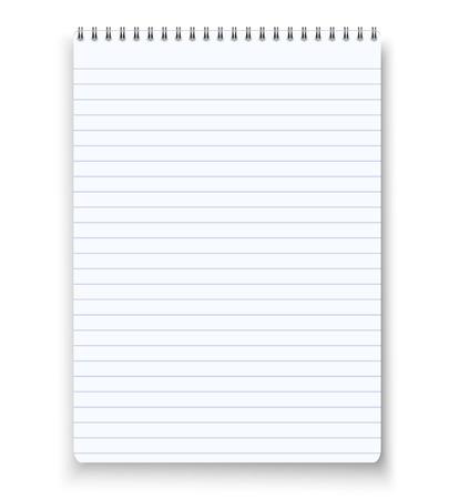 Illustration of Realistic blank spiral notebook notepad Ilustração