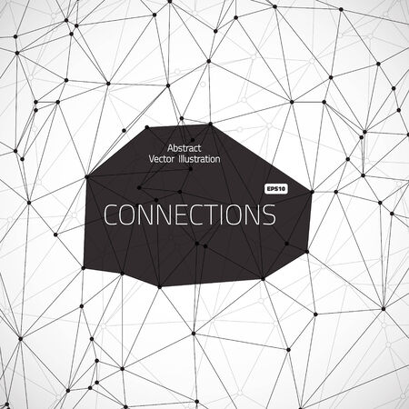 Illustration of abstract lines geometric connections Vector