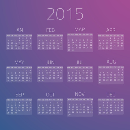 bussiness time: Illustration of Gloss Calendar 2015 background