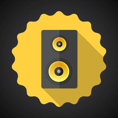 sound system: Ilustraci�n de la m�sica del altavoz Sound System Flat Icono