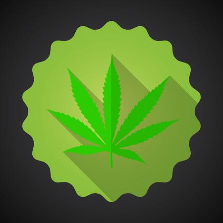 ganja: Illustration of Smoking Marijuana Leaf Ganja Bad Habits