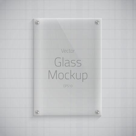 Illustration of Glass Plate Mockup Background Illustration
