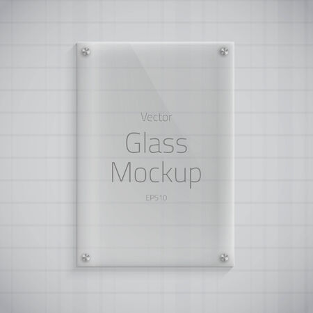 Illustration of Glass Plate Mockup Background Çizim