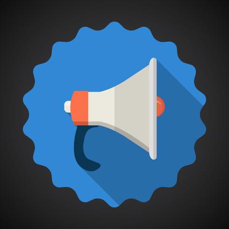 amplify: Illustration of Police Voice Amplifier Amp Flat icon  Illustration