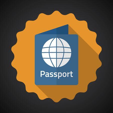 Illustration of Travel Passport Flat icon  Illustration