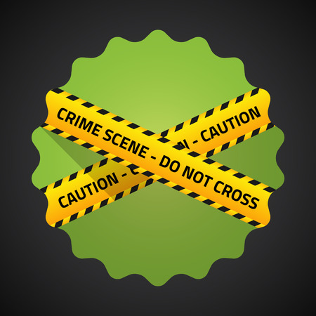 Illustration of Police Barricade Tape Flat icon  Vector