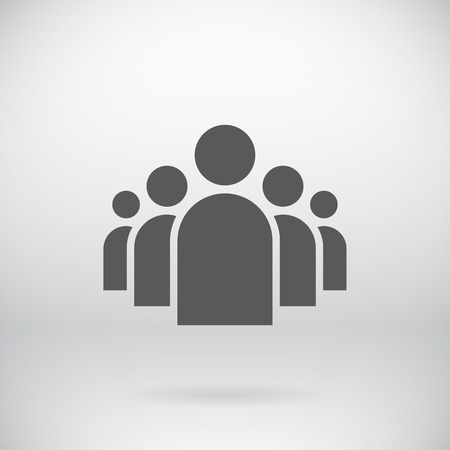 Illustration of Flat Group of People Icon 版權商用圖片 - 36611191