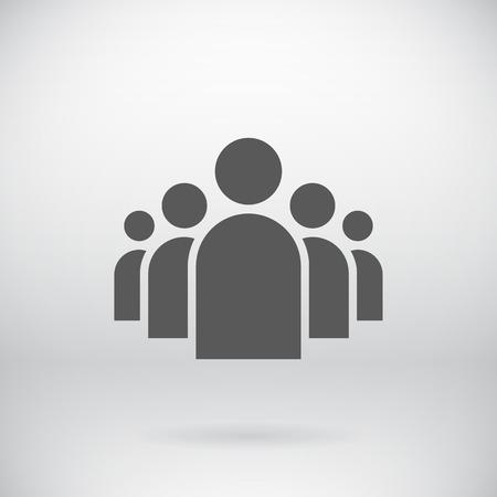 Illustrazione di Flat gruppo di persone Icon Archivio Fotografico - 36611191