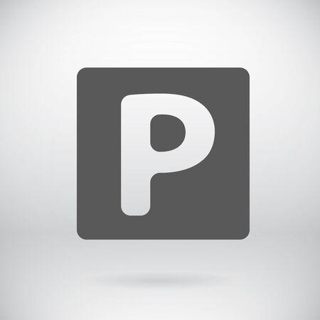 parking car: Illustration of Flat Parking Car Sign