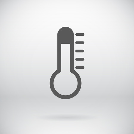 Illustration of Flat Thermometer Sign   Vector
