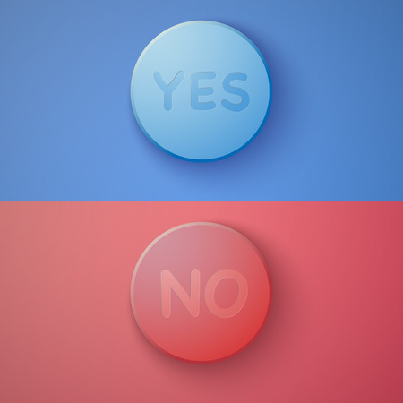yes no: Illustration of Web Infographic  Yes No Colorful Buttons Layout