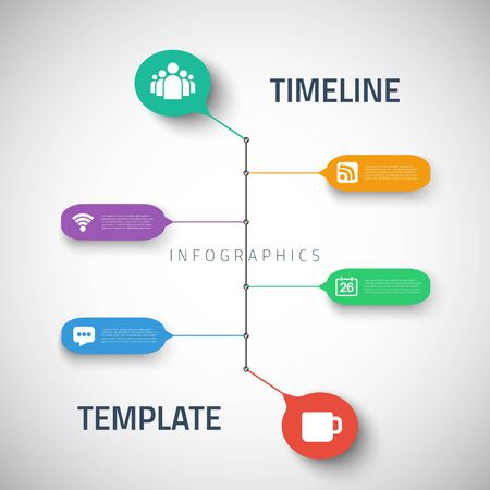 bussiness time: Illustration of Web Infographic Timeline Template