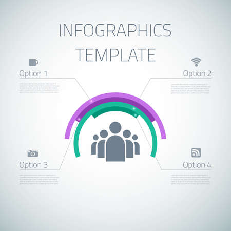 pie chart icon: Illustration of Web Infographic Template