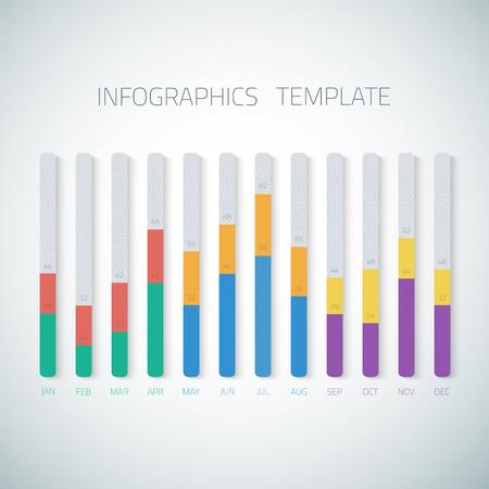 Illustration of Web Infographic Timeline bar Template  Illustration