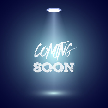 Illustration of Vintage Style Coming Soon Dark Announscement Poster for websites, promotion, store 일러스트