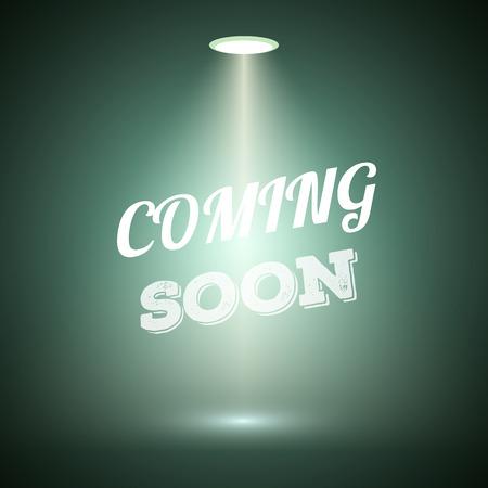 Illustration of Vintage Style Coming Soon Dark Announscement Poster for websites, promotion, store Illustration
