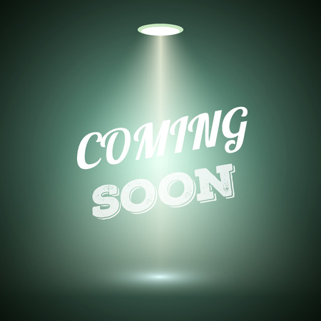Illustration of Vintage Style Coming Soon Dark Announscement Poster for websites, promotion, store Ilustrace