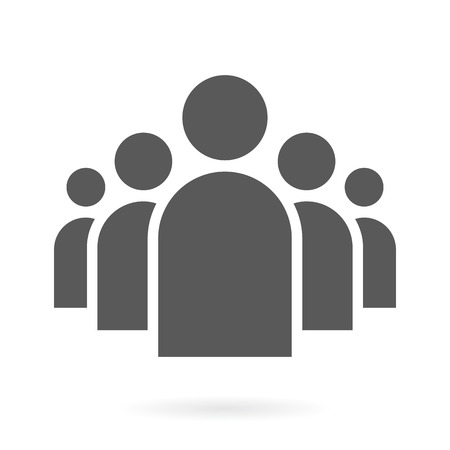 person: Illustration of Flat Group of People Icon Vector Symbol Background Illustration