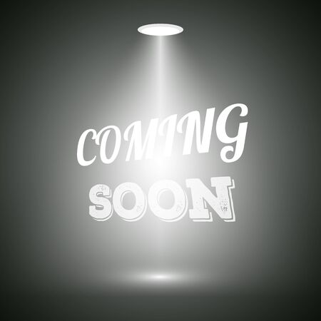 new construction: Illustration of Vintage Style Coming Soon Dark Announscement Poster for websites, promotion, store Illustration
