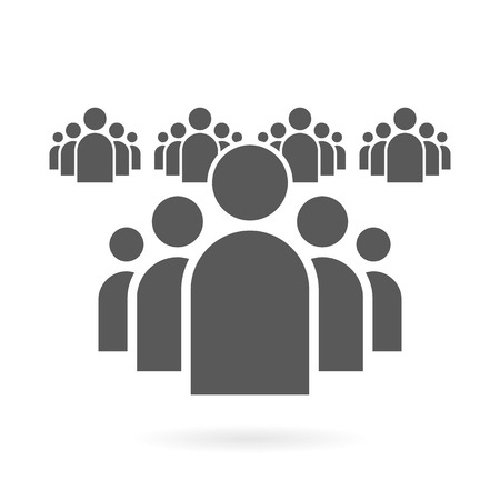 Illustration of Flat Group of People Icon Vector Symbol Background Vettoriali
