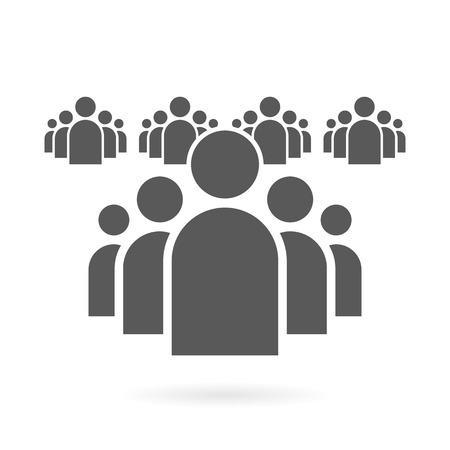 and people: Ilustración de fondo plano Grupo de personas de símbolo del icono del vector Vectores