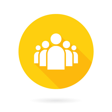 Illustration of Flat Group of People Icon Vector Symbol Background Illustration