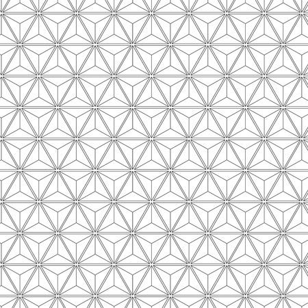 Ilustración de Seamless Geometric Líneas Blanco y Negro hexágono vector patrón de fondo. Usted puede encontrar el patrón en la biblioteca de muestras trabajado plenamente