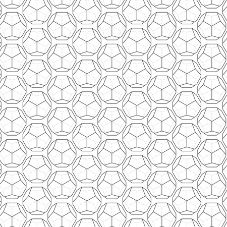 worked: Illustration of Seamless Geometric Lines Black and White Hexagon Vector Pattern Background. You can find fully worked pattern in swatches library