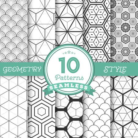 fondo geometrico: Ilustraci�n del conjunto de 10 vector transparente geom�tricos L�neas Dise�o Fondos para web, presentaciones, textura. Puede encontrar patrones trabajado plenamente en muestras de la biblioteca