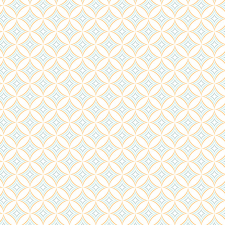 worked: Illustration of Seamless Geometric Color Tile Vector Pattern Background Wallpaper. You can find fully worked pattern in swatches library