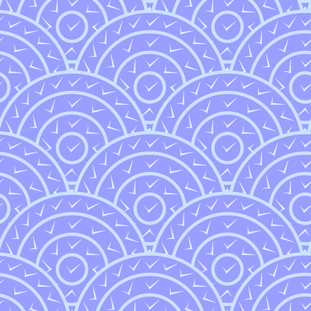 circle shape: Circle With Tick Shape Vector Seamless Pattern