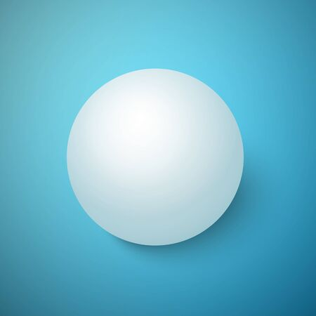 3d  ball:  3D Ball Isolated on a Blue Background