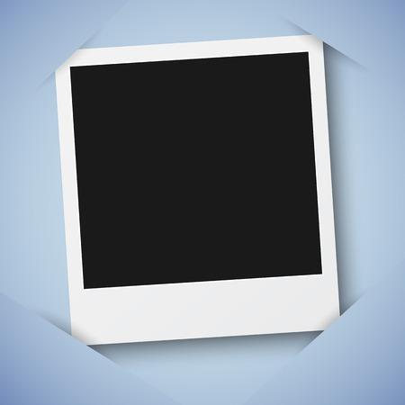 Illustration of Retro Photo Frame Template in  Scrapbook Style Stok Fotoğraf - 45607530