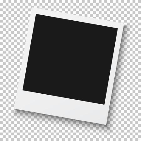 Illustration of Photo realistic Retro Style Photo Frame Isolated on Background