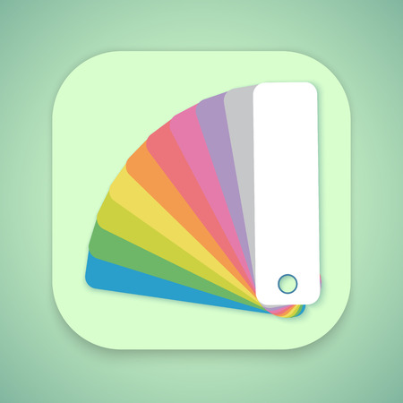color swatch book: Illustration of Design Color Guide Fan Flat Illustration