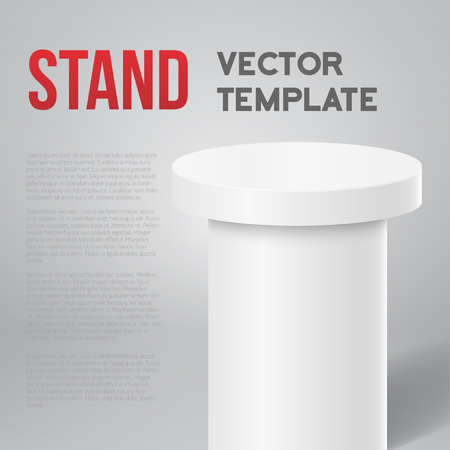 spokesman: Illustration of Photo realistic Speaker Stand Tribune Template Isolated Mock up