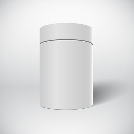 tin can: Illustration of White Tin Can Template Isolated on White Background