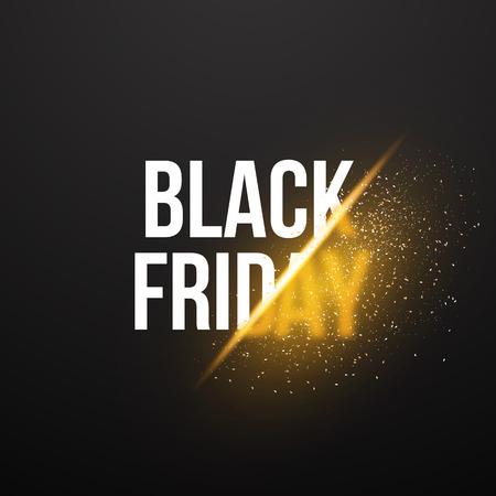 ruban noir: Illustration du Black Friday Affiche Vente d'explosion. Illustration