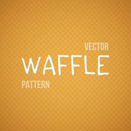 baked: Illustration of Fresh Baked Orange Waffle Seamless Background Pattern