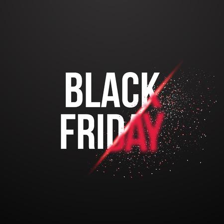 Illustration of Black Friday Sale Explosion Poster.