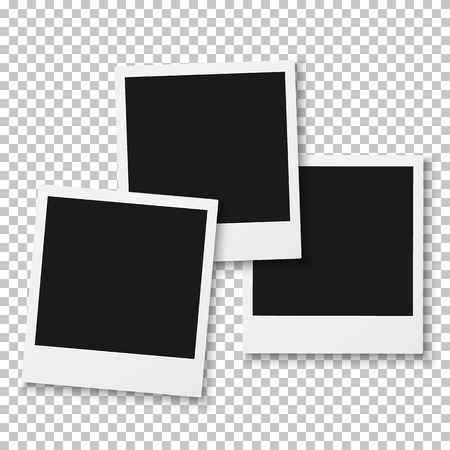 Illustration of Vintage Photo Frame Isolated on PS Style Background Illustration