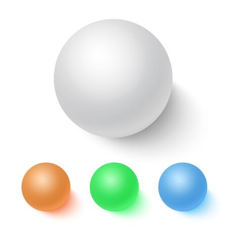 couleurs vives: Bright Colors Ball Set Illustration