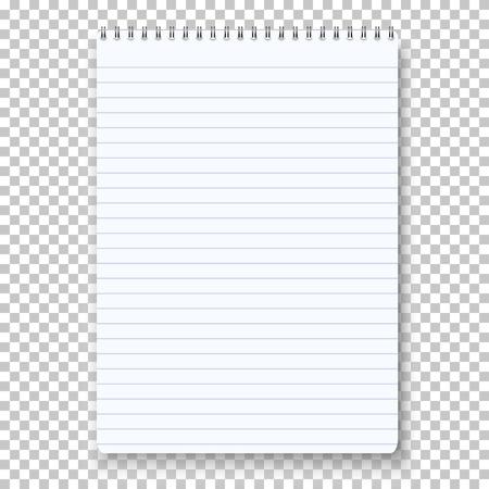 Notepad Isolated on Transparent Background. 일러스트