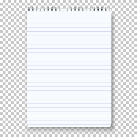 Notepad Isolated on Transparent Background. Çizim