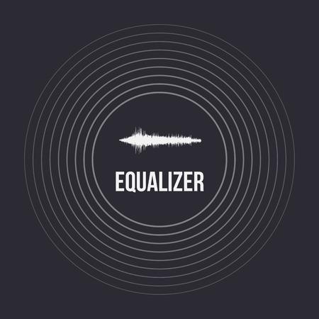 audio wave: Illustration of Pulse Music Equalizer Background. Audio Wave Equalizer Template