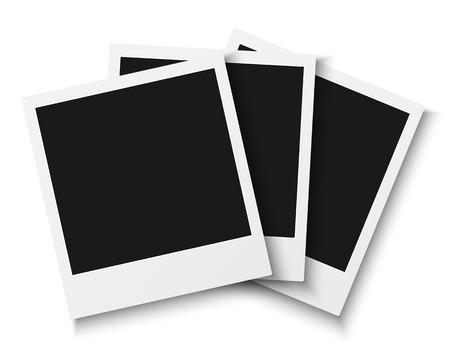 vintage photo frame: Illustration of Set of Vintage Photo Frame Isolated on White Background. Retro Photorealistic Photo Frame Set Illustration