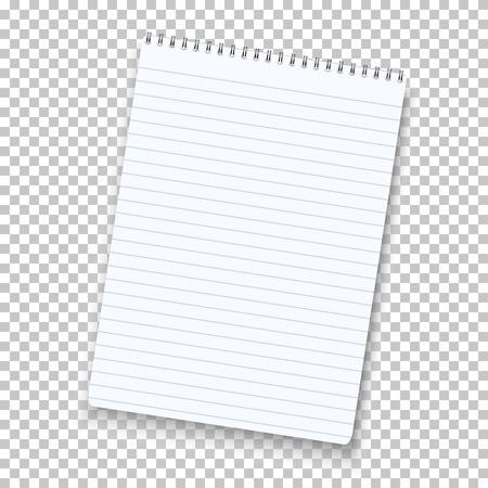 Bloc de notas aisladas sobre fondo transparente. Foto de archivo - 48121144
