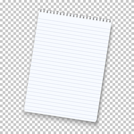 Notepad Isolated on Transparent Background. Ilustrace